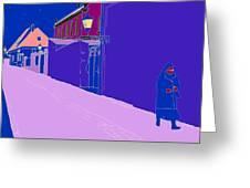 La Rue Rose Greeting Card