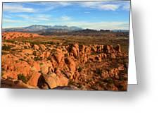 La Sal Landscape Work C Greeting Card