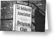 La Solidarite Association Belgium Club Greeting Card
