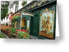 La Terrasse In Montmartre Greeting Card