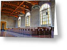Los Angeles Union Station At Its 75th Anniversary Greeting Card