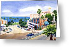 La Valencia And Prospect Park Inn Lj Greeting Card