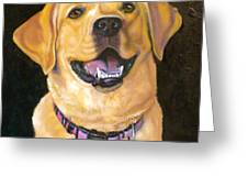 Lab Adorable Greeting Card by Susan A Becker