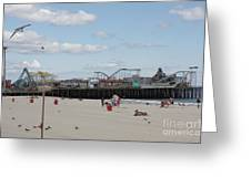 Labor Day At The Pier  Greeting Card
