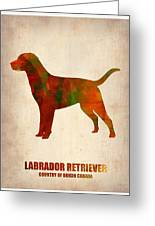 Labrador Retriever Poster Greeting Card