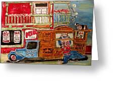 Lachine Chip Wagon Greeting Card by Michael Litvack