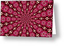 Lacy Orchid Kaleidoscope Greeting Card