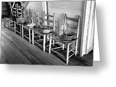 Ladder Back Chairs And Baskets Greeting Card by Lynn Palmer