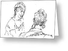 Ladies Chatting Greeting Card