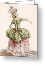 Ladies Evening Gown, Engraved By Dupin Greeting Card