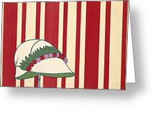 Ladies Hat, From Les Robes De Paul Greeting Card