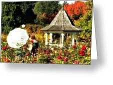 Ladies In Rose Garden Greeting Card