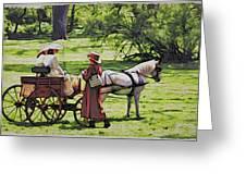 Ladies In The Meadow Greeting Card