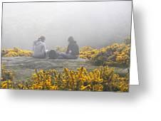 Dublin In The Mist Greeting Card