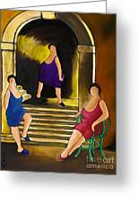 Ladies Of The Night Greeting Card by William Cain
