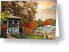 Ladies Pavilion In Autumn Greeting Card