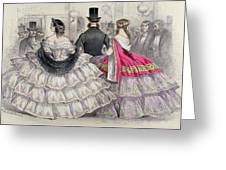 Ladies Wearing Crinolines At The Royal Italian Opera Greeting Card
