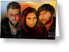 Lady Antebellum Greeting Card