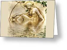 Lady Bathing 2 Greeting Card