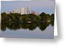 Lady Bird Lake In Austin Texas Greeting Card