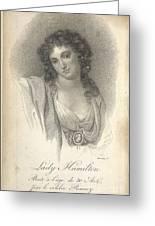 Lady Emma Hamilton Greeting Card