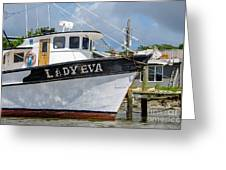 Lady Eva Shrimp Boat Greeting Card
