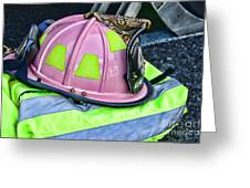 Lady Firefighter Greeting Card
