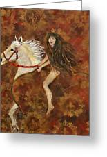 Lady Godiva Rides For Love Greeting Card