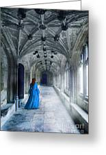 Lady In A Corridor Greeting Card