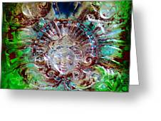 Lady In Glass Greeting Card
