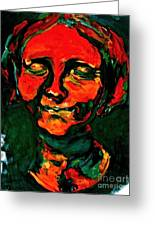 Lady In Orange Greeting Card by Michelle Dommer