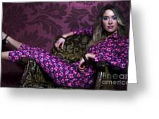Lady In Pink... Greeting Card