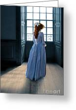 Lady In Purple Gown By Window Greeting Card
