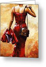 Lady In Red #25 Greeting Card