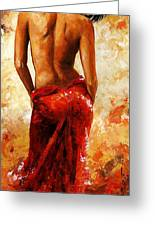 Lady In Red 27 Greeting Card