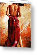 Lady In Red  39 Greeting Card