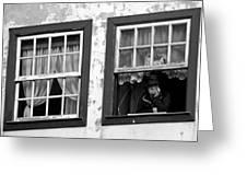 Lady In The Window II Greeting Card