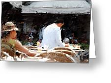 Lady In Waiting Venice Italy Greeting Card