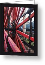 On The Isle Of Man, Lady Isabella Wheel Close Up Greeting Card