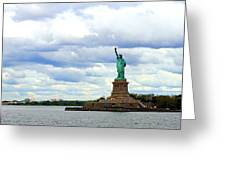 Lady Liberty B Greeting Card