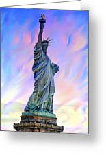 Lady Liberty Blues Greeting Card