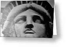 Lady Liberty In Black And White1 Greeting Card