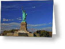 Lady Liberty In New York City Greeting Card
