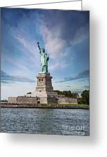 Lady Liberty Greeting Card by Juli Scalzi