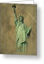 Lady Liberty New York Harbor Greeting Card