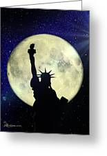 Lady Liberty Nyc - Featured In Comfortable Art Group Greeting Card