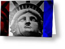 Lady Liberty Red White And Blue Greeting Card