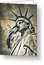 Lady Liberty Vintage Greeting Card