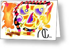 Lady Lightning Greeting Card