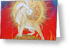 Lady Of Flame Greeting Card